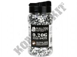 2000 x 6mm x 20g Black White Ultra Mix Polished Airsoft BB Gun Pellets